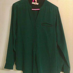 Sandro green blouse